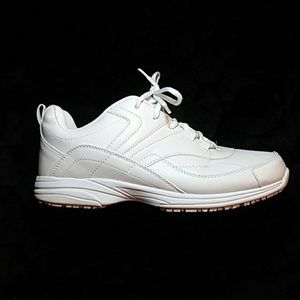SafeTstep Comfort White Sneakers Walking Shoes New